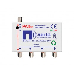4-way active splitter +12dB + CC
