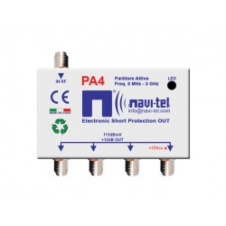4-way active splitter +12dB